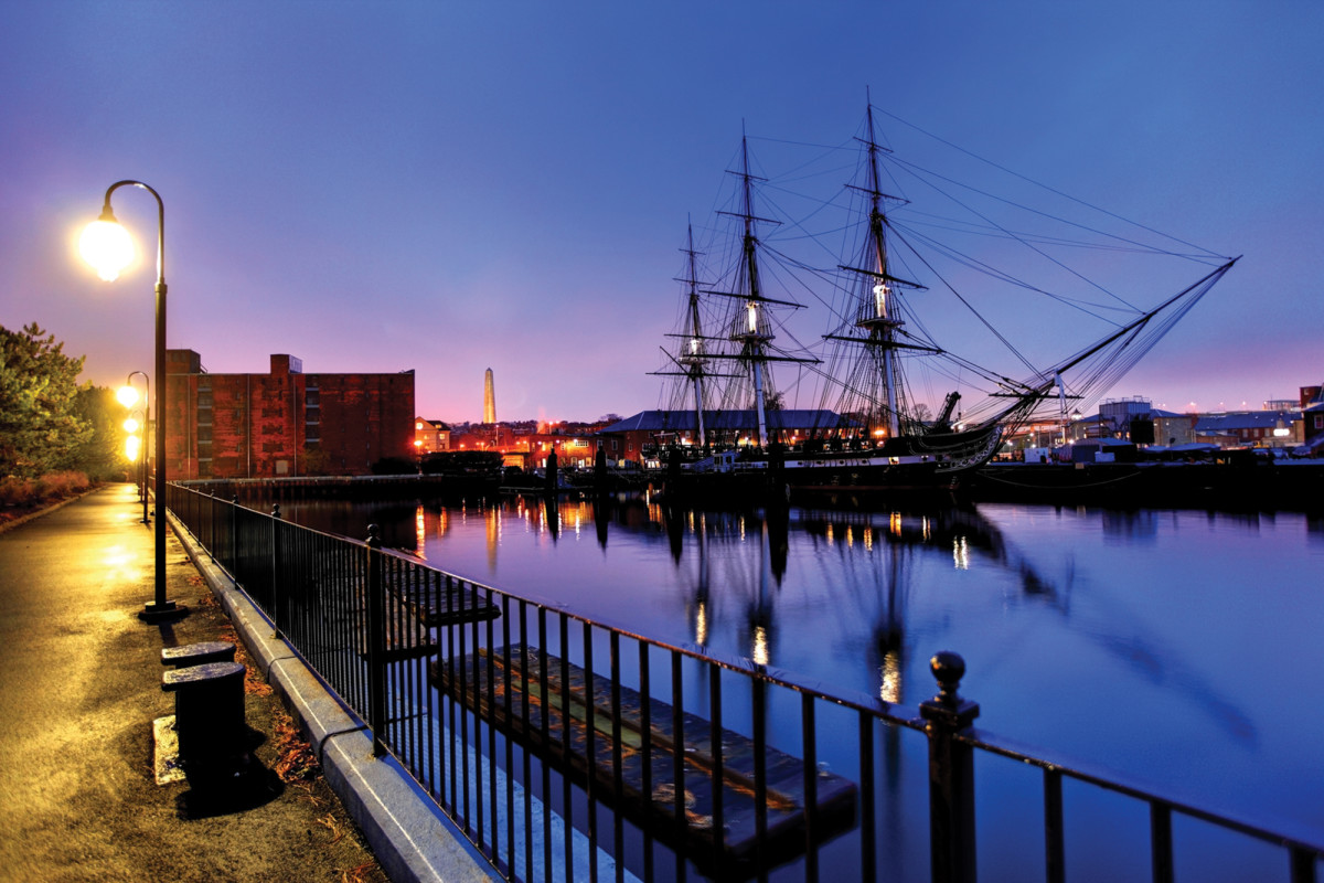 The USS Constitution in Charlestown.
