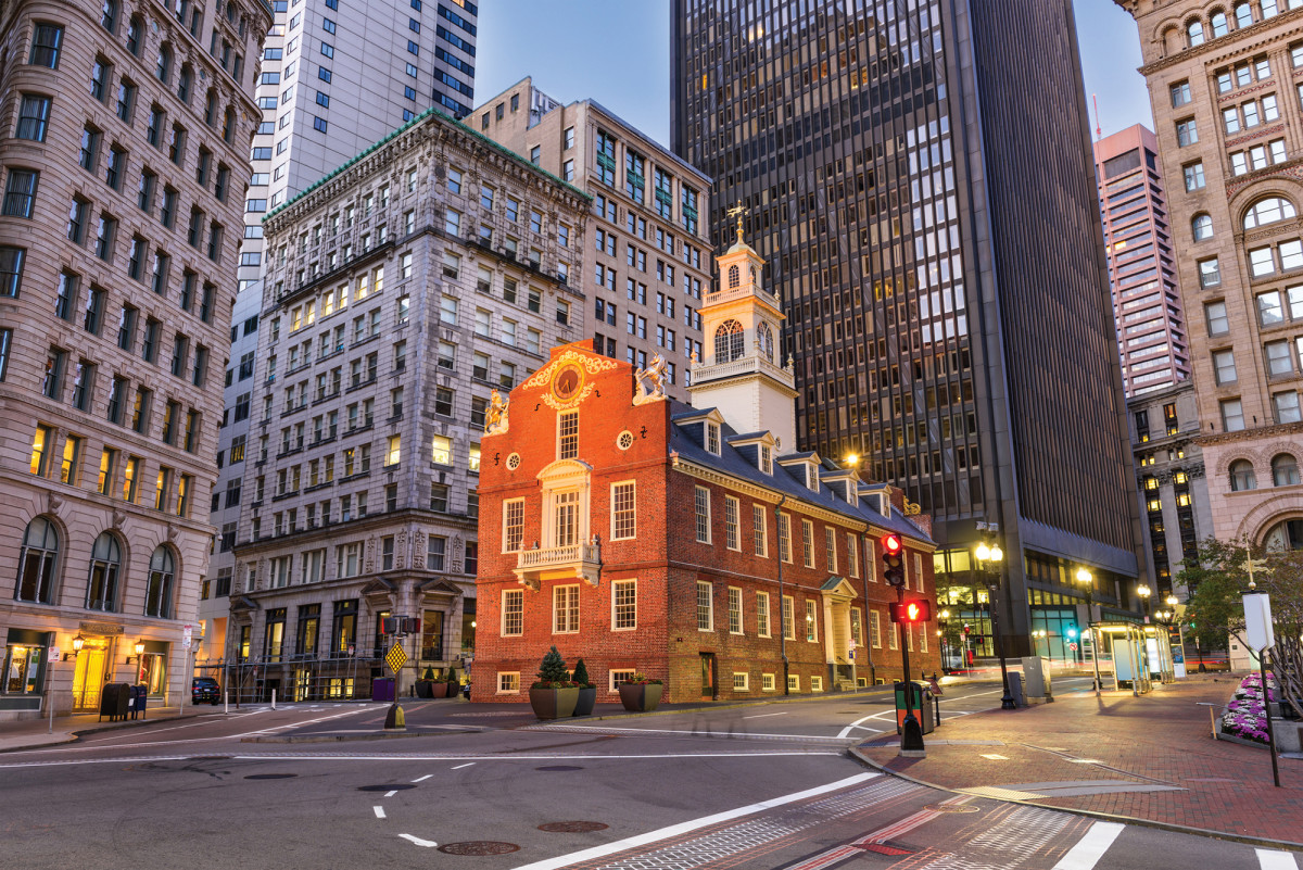 The Old State House is one stop along the Freedom Trail.