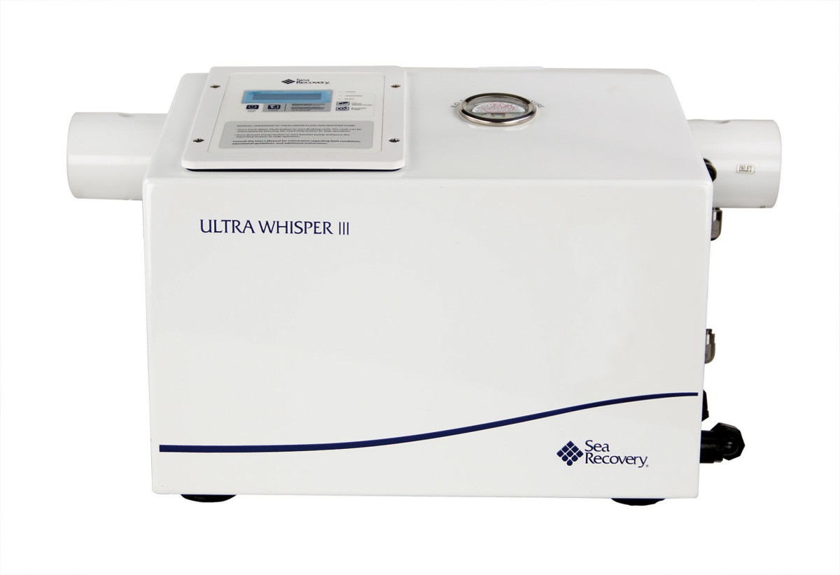 Sea Recovery's Ultra Whisper 400 desalinates water at 16.5 gph