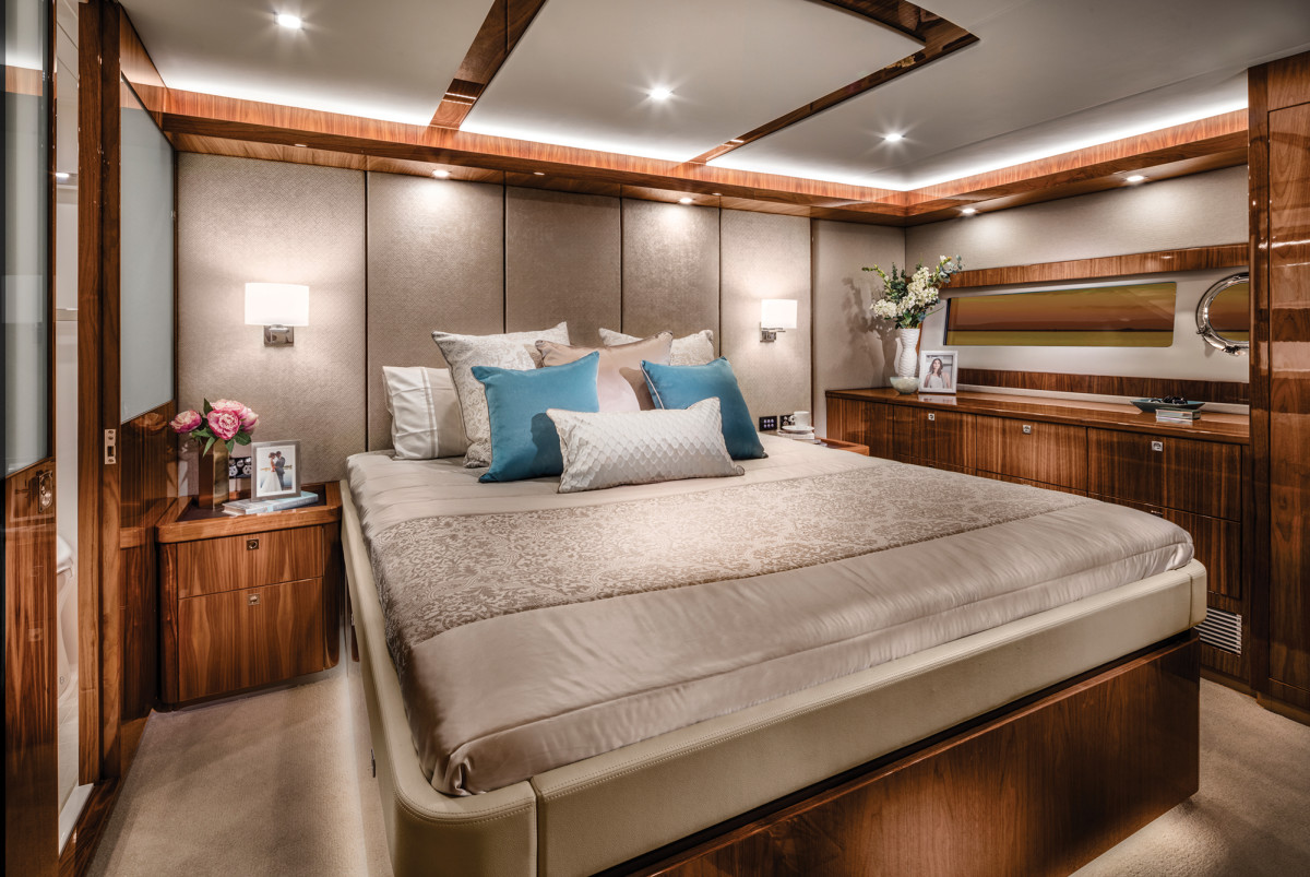 The amidships master stateroom in the Classic layout.