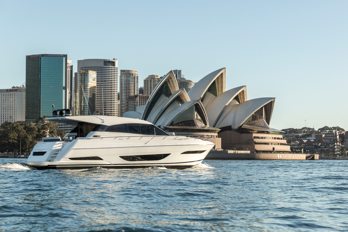 The X60 has the best efficiency numbers of all Maritimo-built boats, making a cruise around Sydney's expansive waterways a breeze.