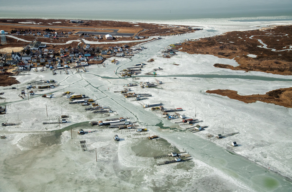 Tangier Island settles in for a long winter's nap. Once the ice thaws the watermen will return to the water full time. How many more winters they have left on Tangier is constantly questioned.