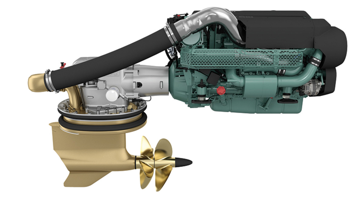 Volvo Penta's D8-IPS700s figure to be popular in 45- to 55-foot yachts.