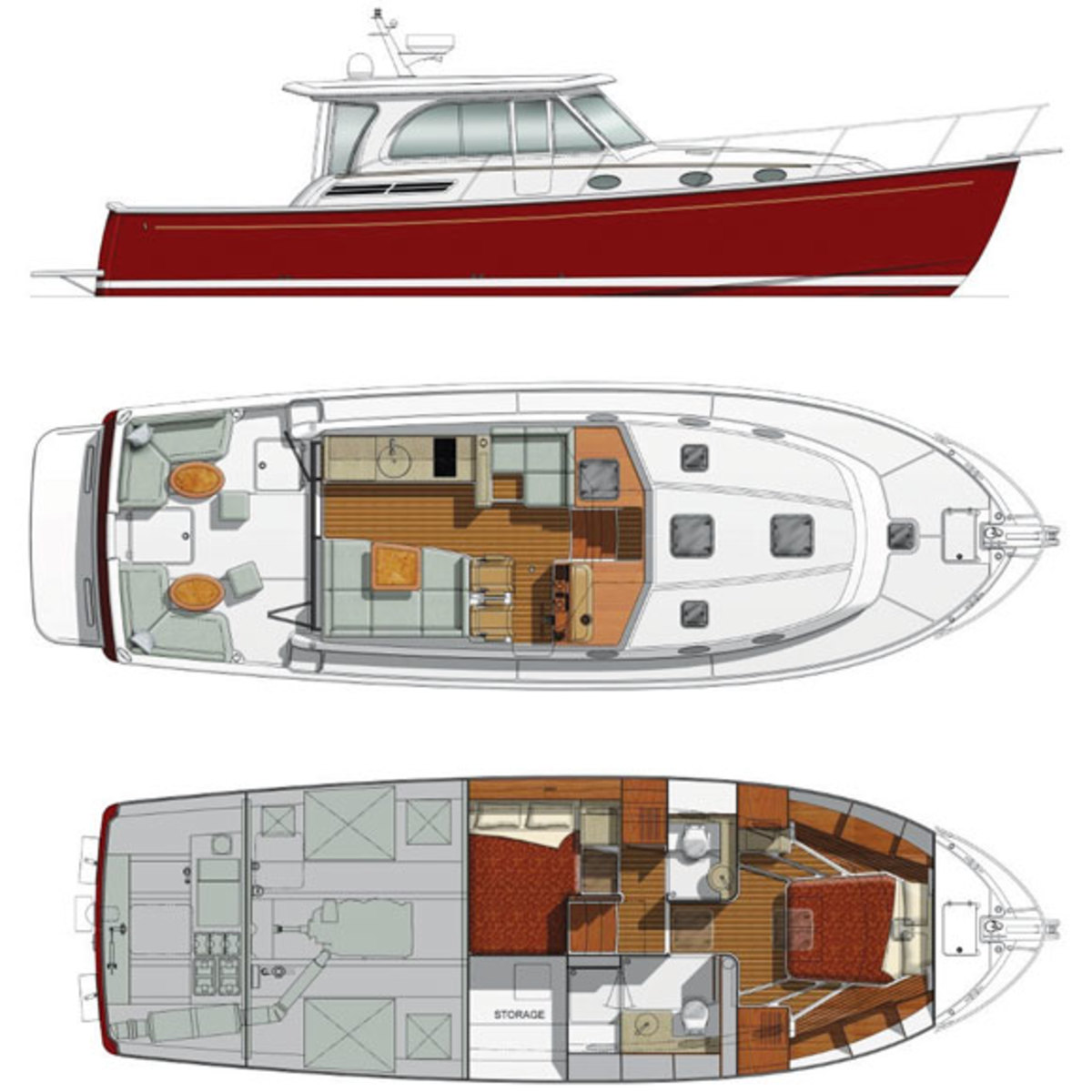 Back Cove 41 deckplans
