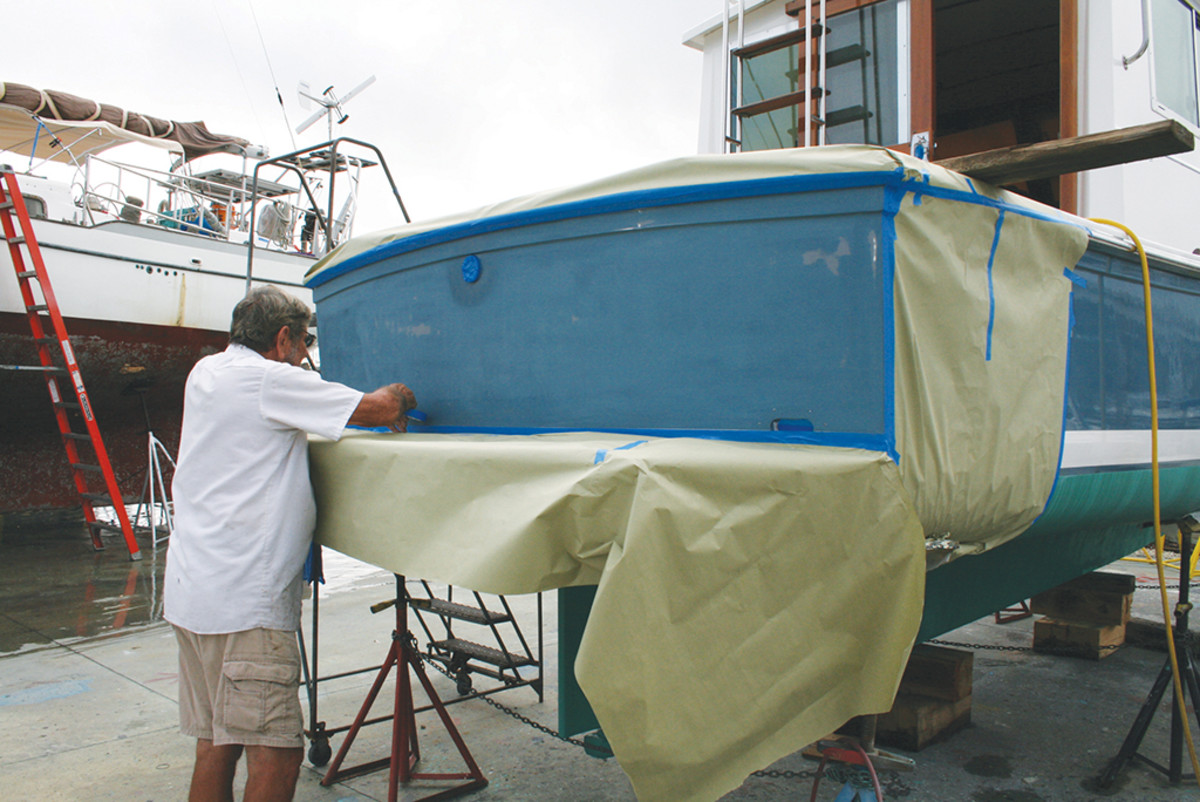 Resurfacing a transom