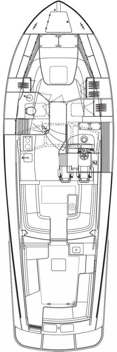 Hinckley Talaria 43 deckplans