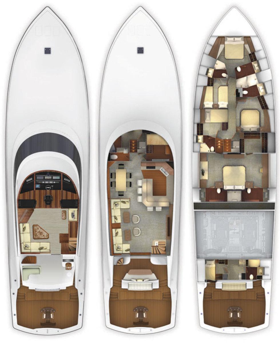 Viking 92C deckplans