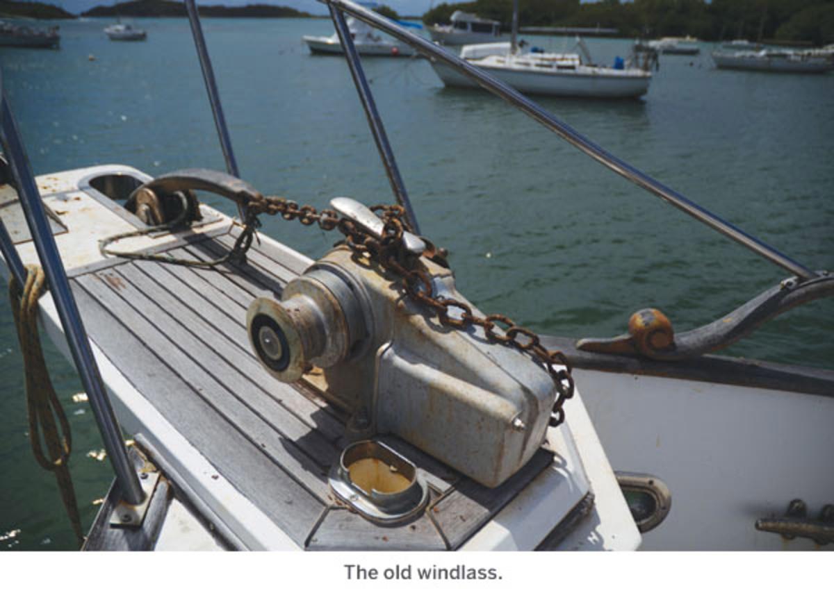 The old windlass.