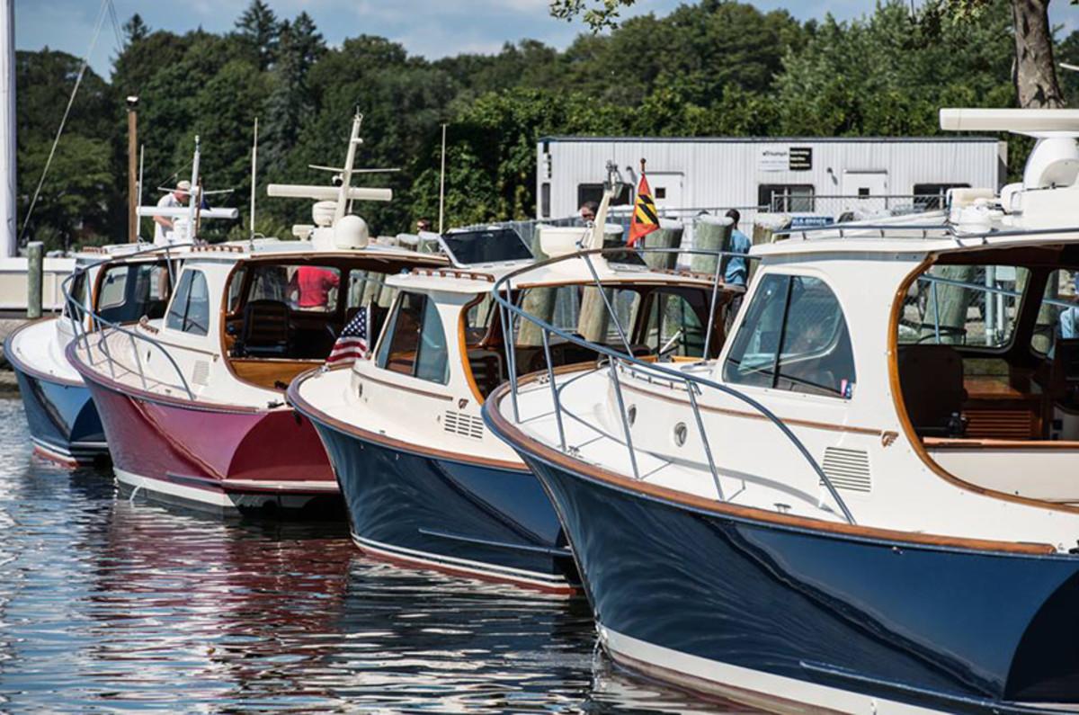 Hinckley yachts in Mystic Connecticut