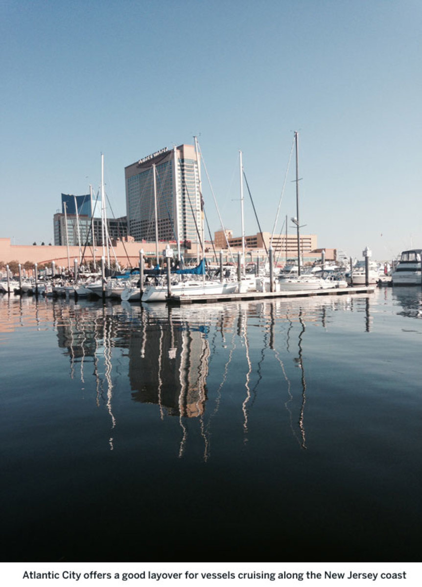 Atlantic City offers a good layover for vessels cruising along the New Jersey coast