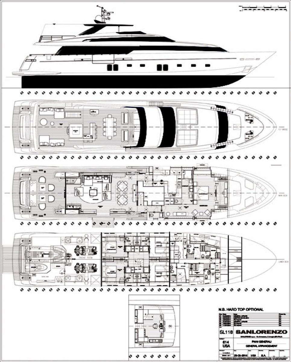 Sanlorenzo SL 118 deckplans