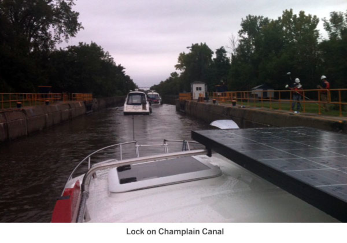 Lock on Champlain Canal