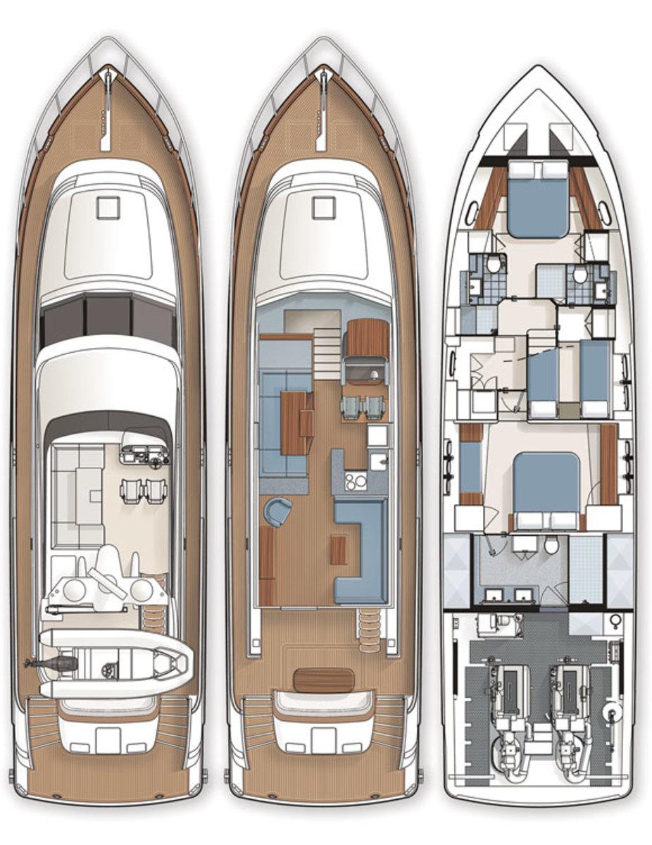 Coastal Craft 65 Concord deck plans