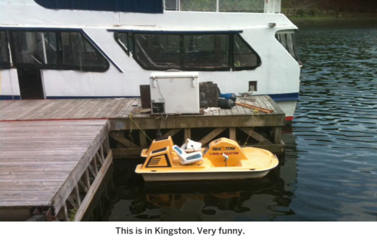 This is in Kingston. Very funny