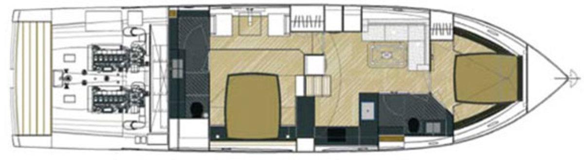 Rio Yachts 56 Granturismo deckplans - lower deck
