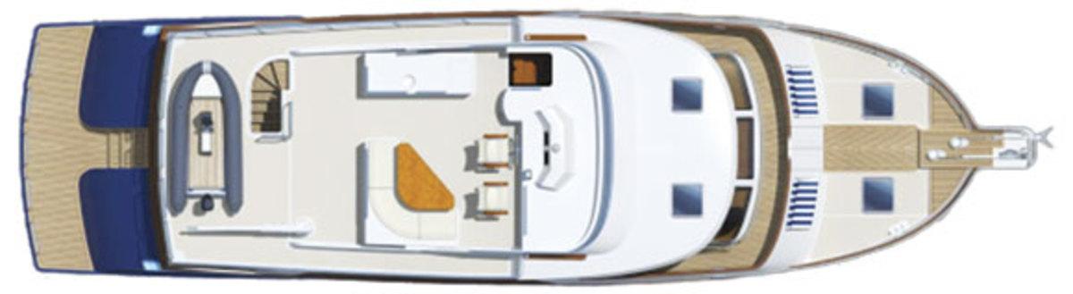 Marlow 62E - deckplans, top deck