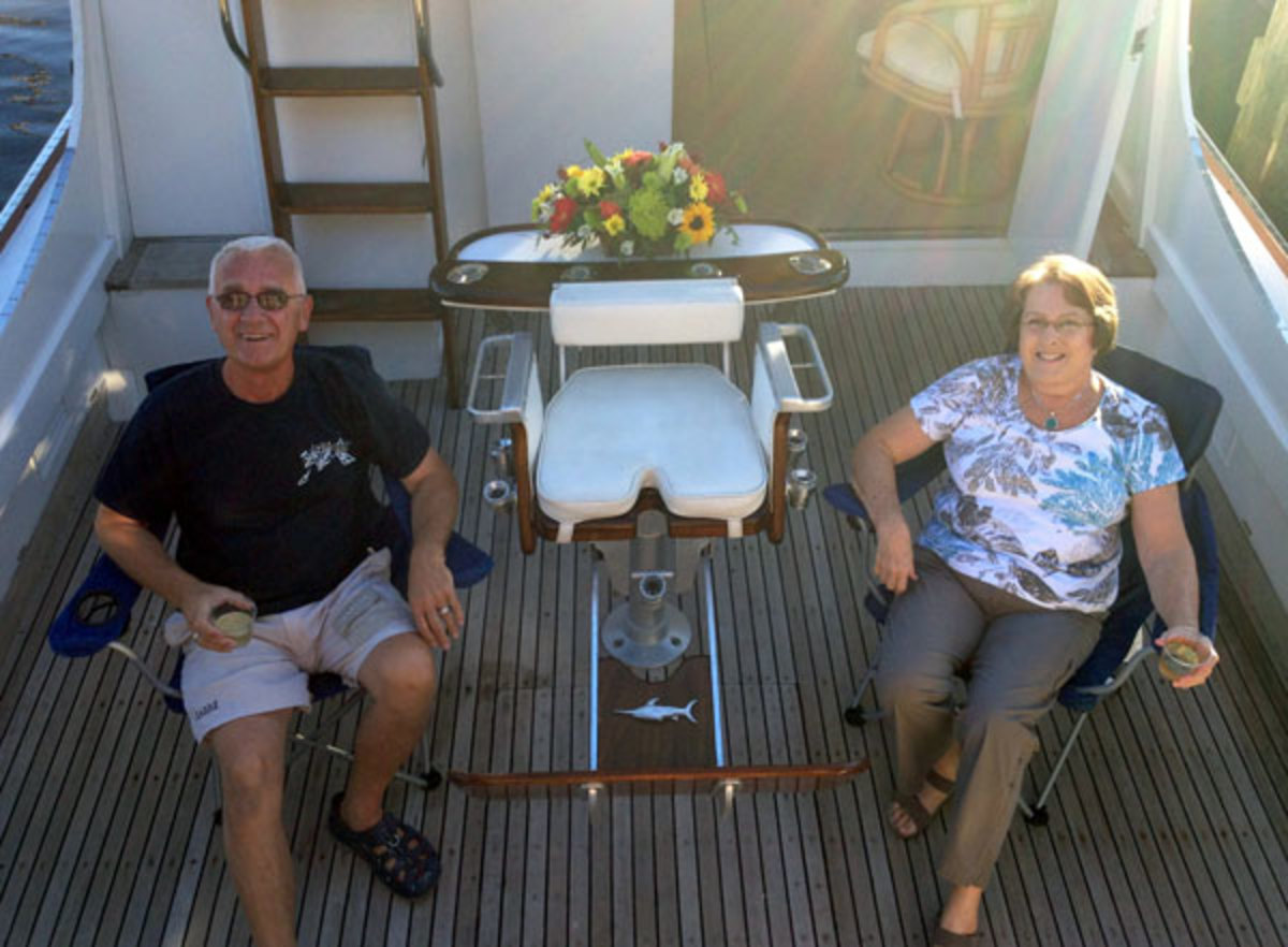 Oh Wooden Aye owners Bob  and Pam Dykema
