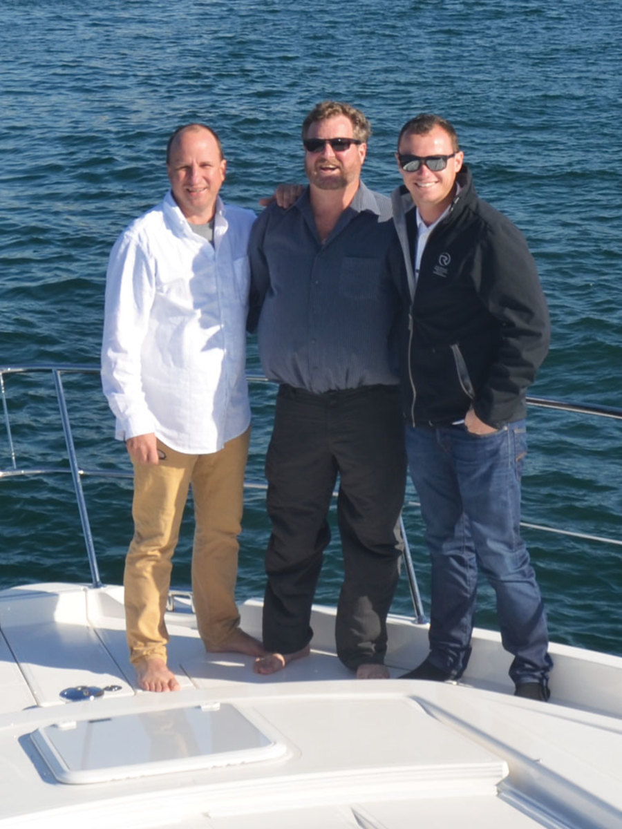 The author, Hammerman, and Capt. Tim Wright