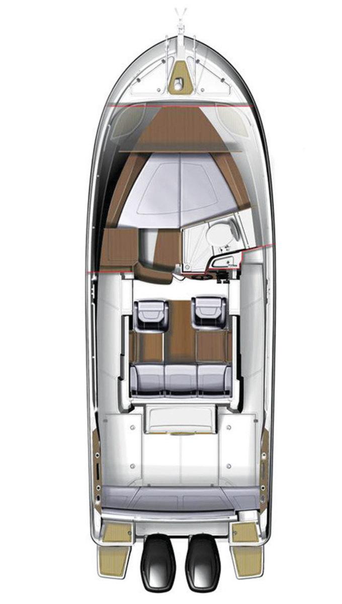 Beneteau Barracuda 9 - deckplans