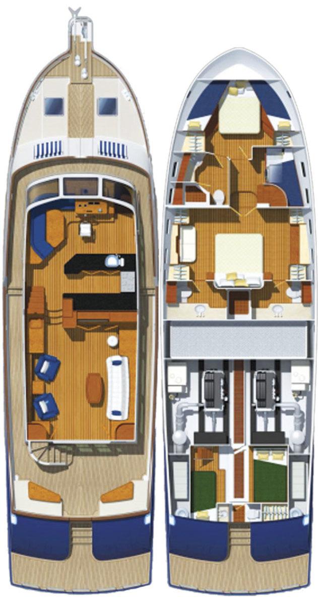 Marlow 62E - deckplans