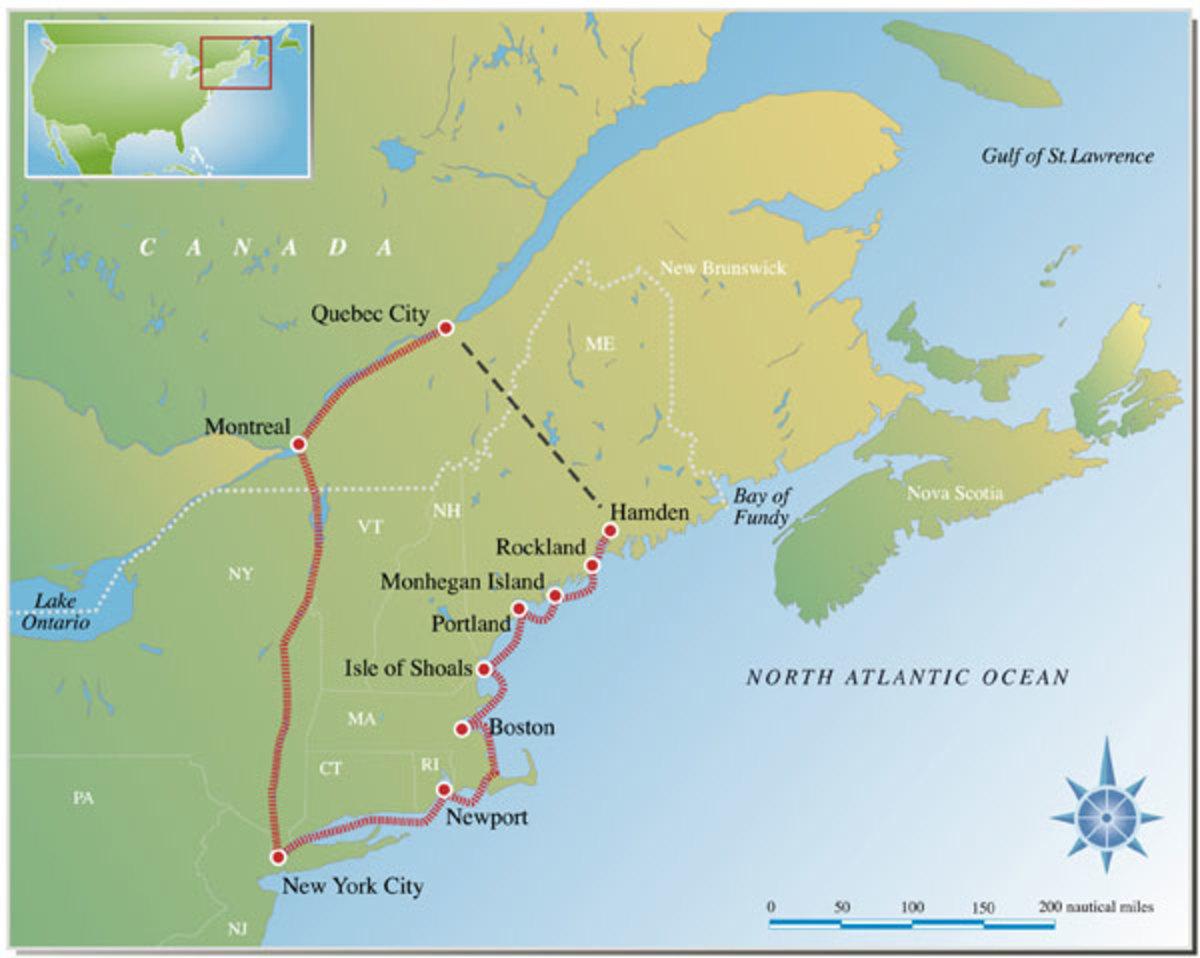 Map of the Down East Loop