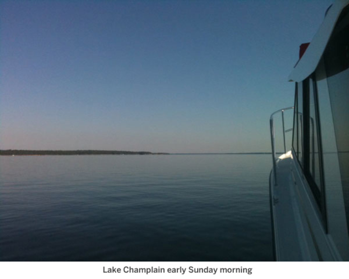 Lake Champlain early Sunday morning