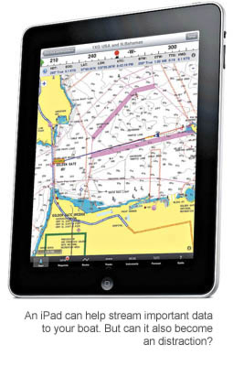 An iPad can help stream important data to your boat. But can it also become an distraction?