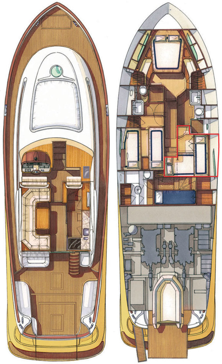 Mochi Craft Dolphin 54 Flybridge deckplans