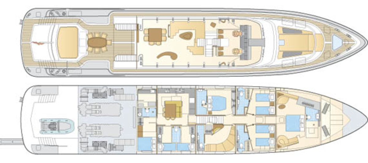 Mega Yacht Floor Plans   Danish Yachts Shooting Star Power Motoryacht