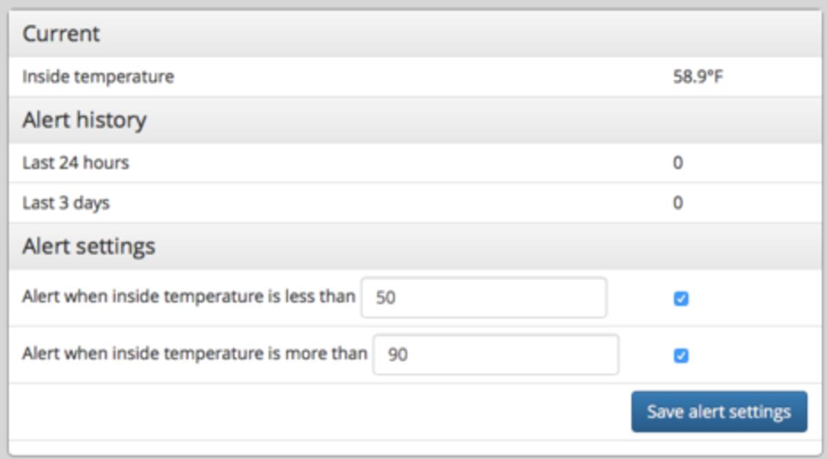Boat Command temperature