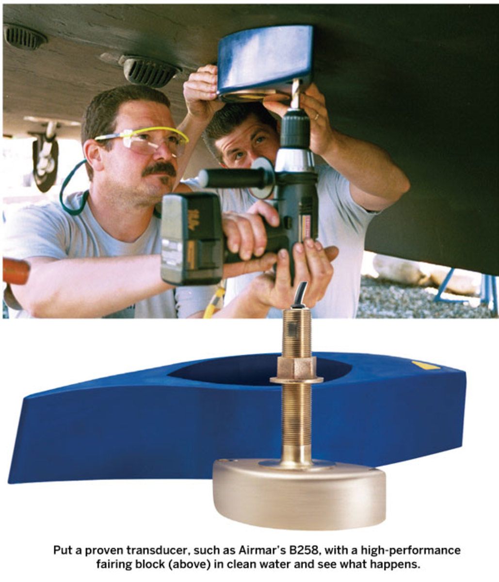 Installing a transducer on a boat