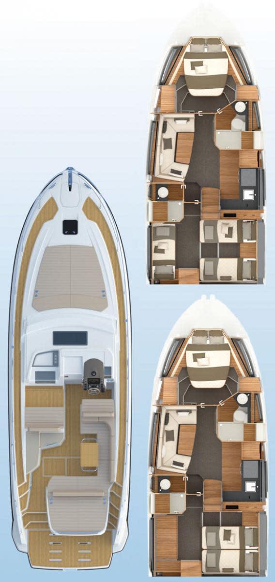 Azimut Atlantis 43 deckplans