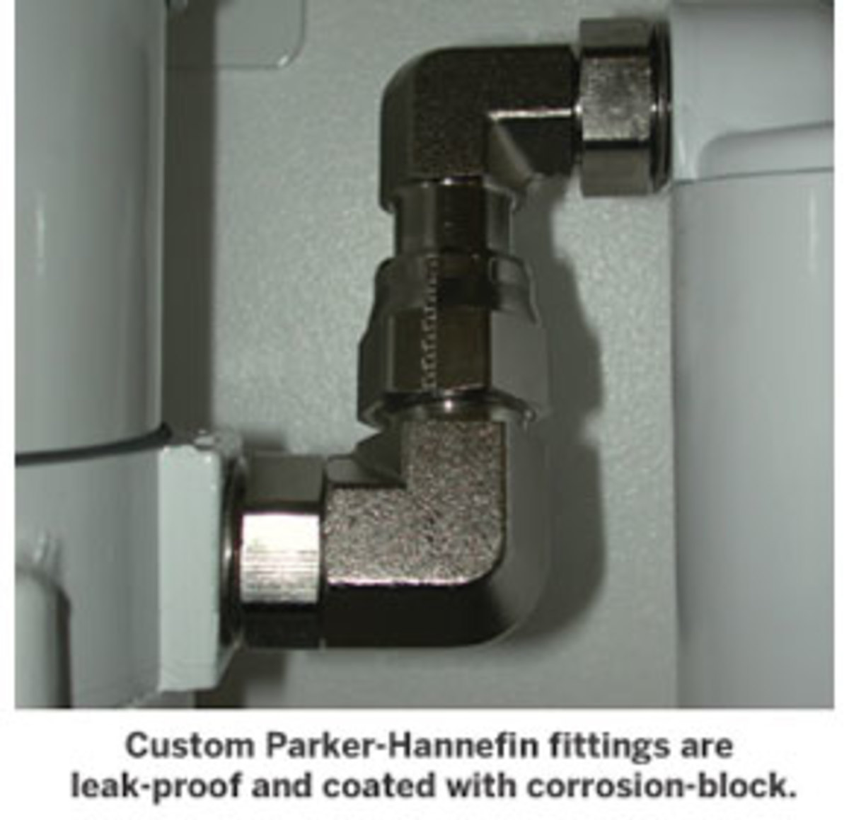 Custom Parker-Hannefin fittings