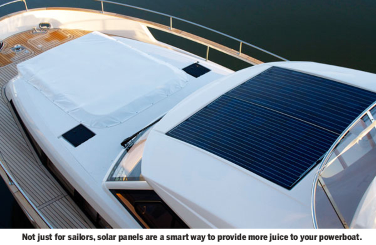 Solar panel on a boat