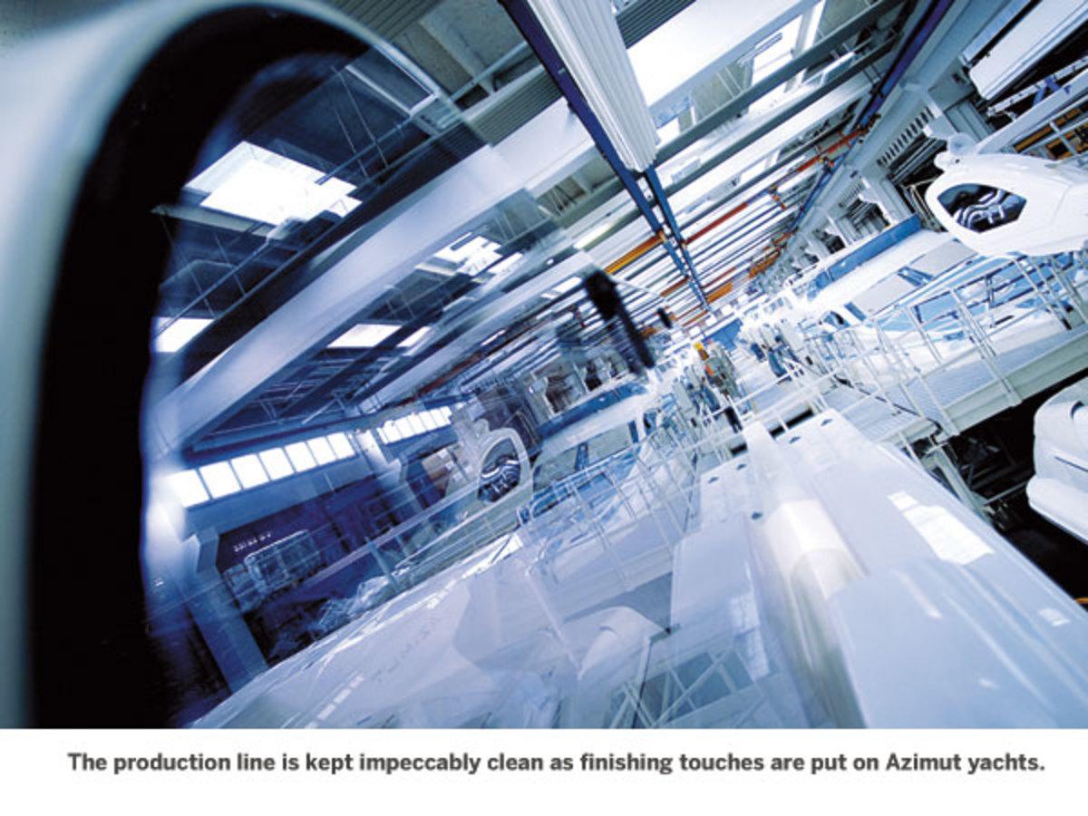 Azimut yachts production line
