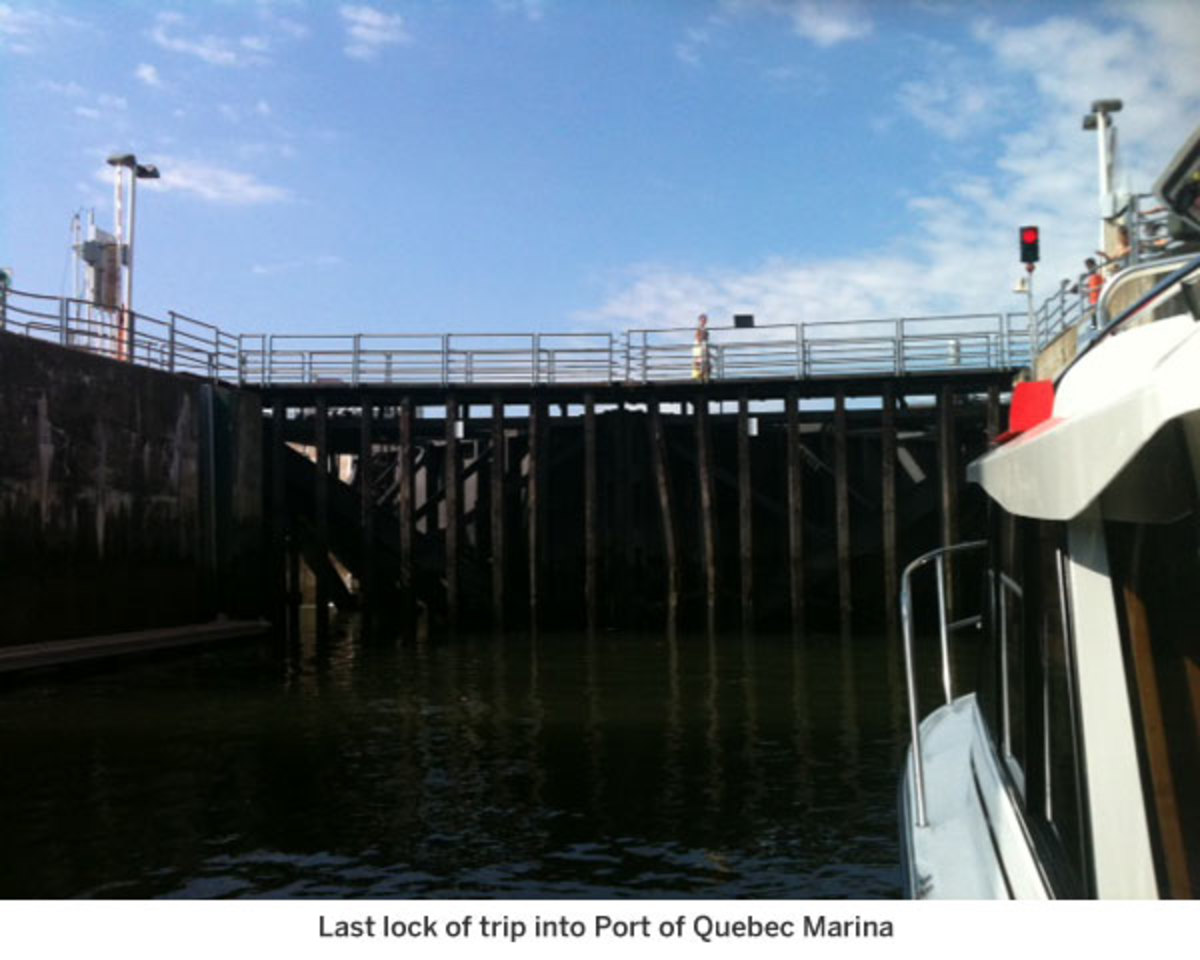 Last lock of trip into Port of Quebec Marina