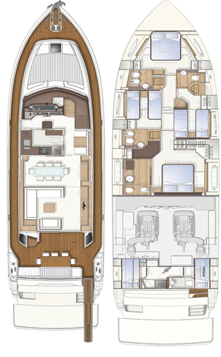 Ferretti 750 deckplans