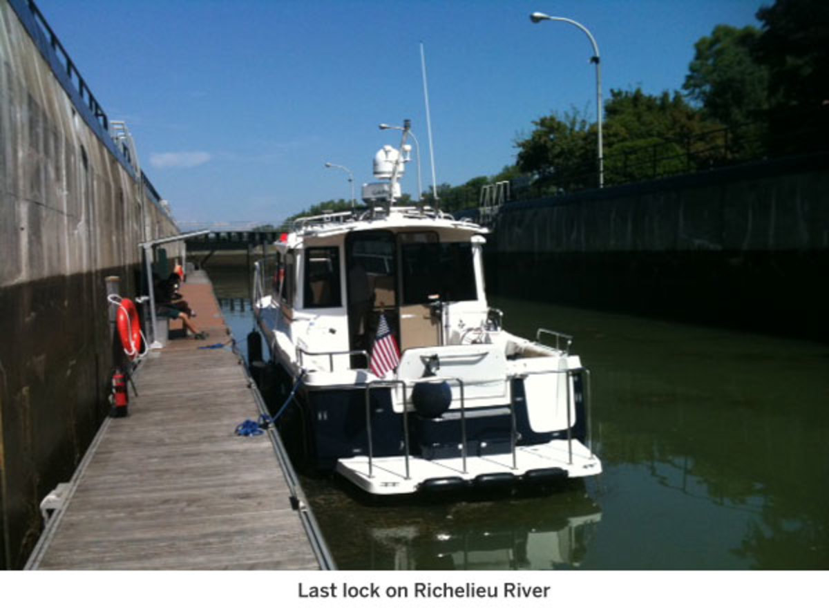 Last lock on Richelieu River