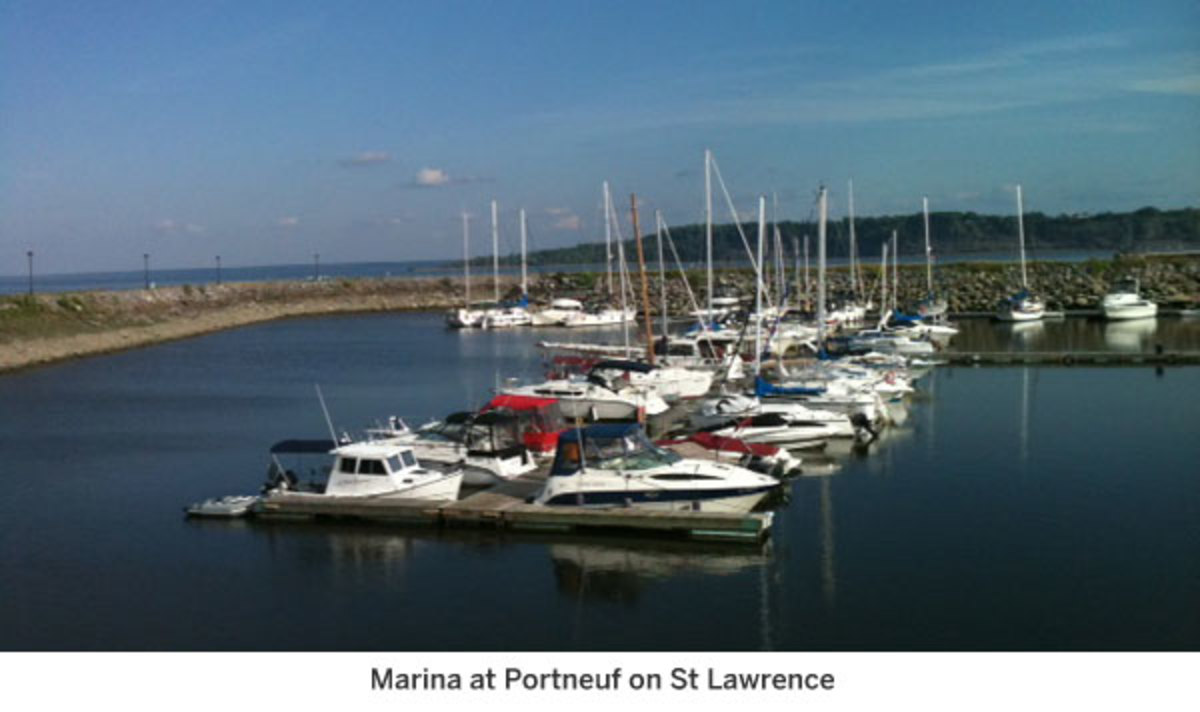 Marina at Portneuf on St Lawrence