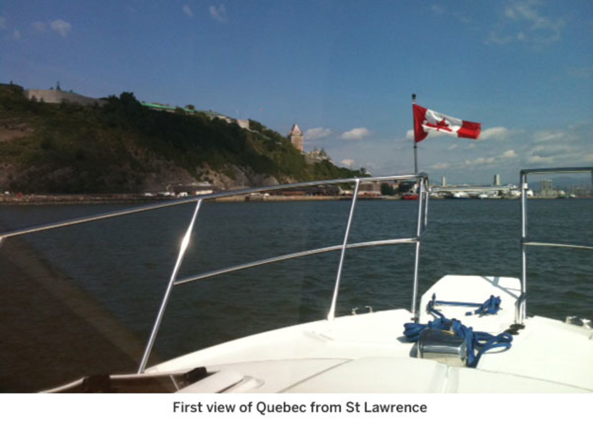 First view of Quebec from St Lawrence