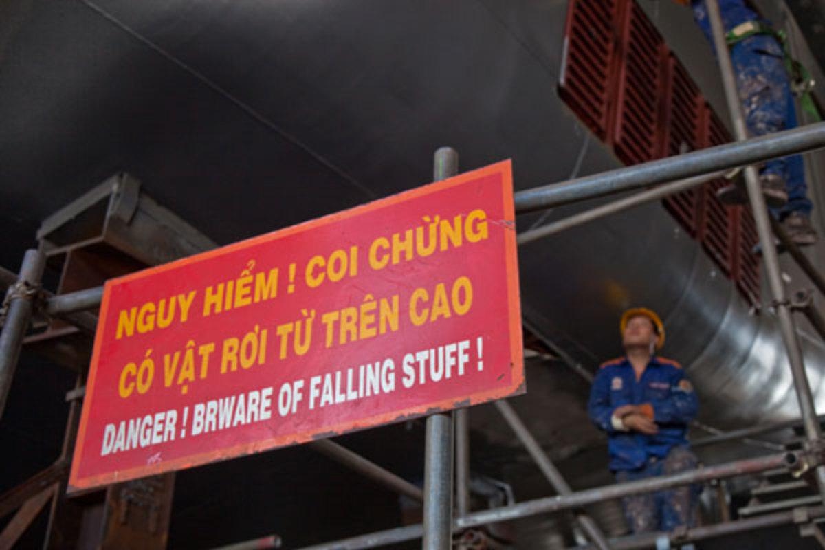 Beware of falling stuff