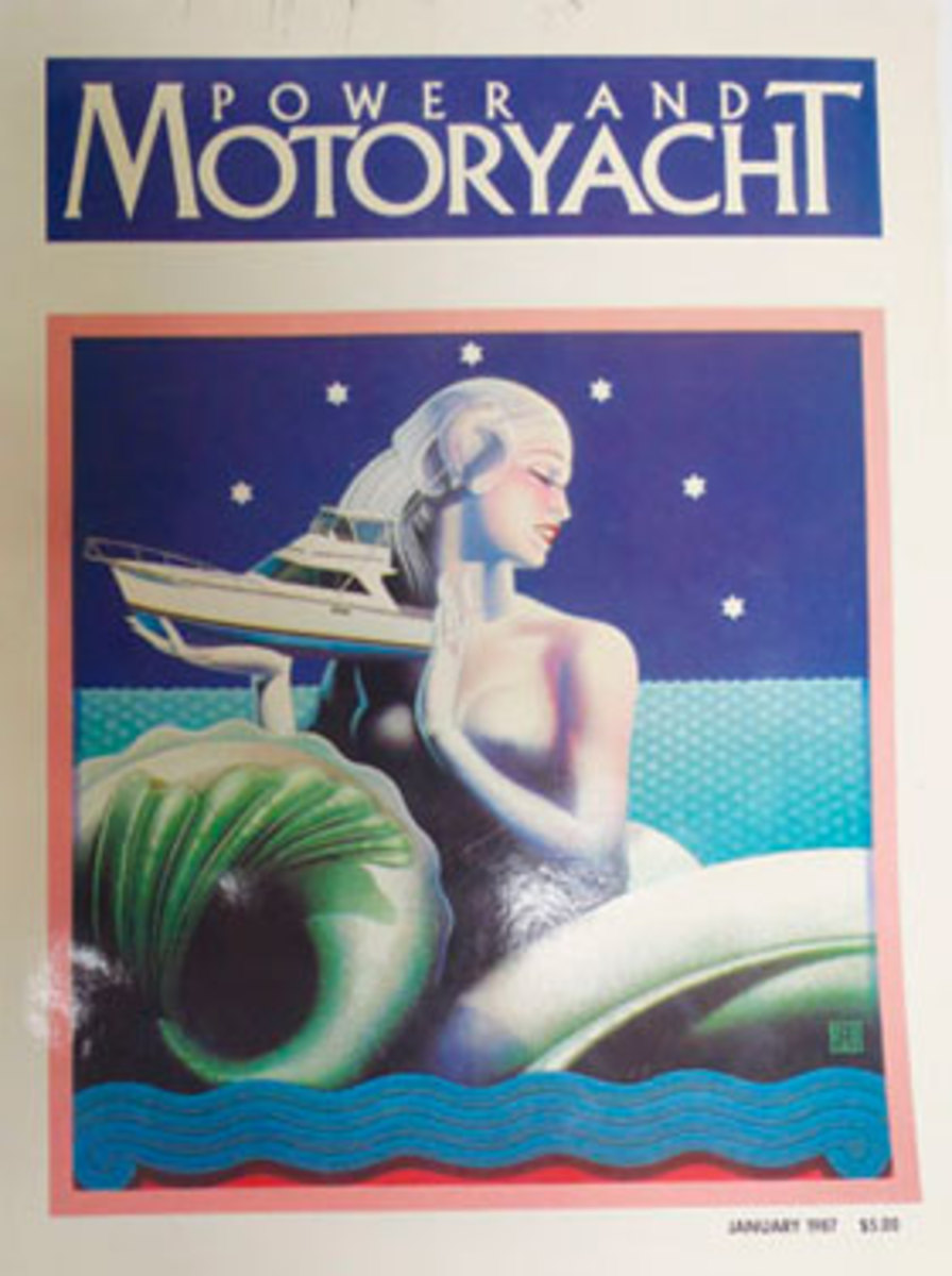 Power & Motoryacht January 1987 cover