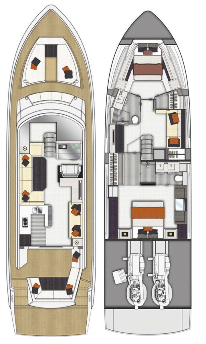 Cruisers 60 Cantius deckplans