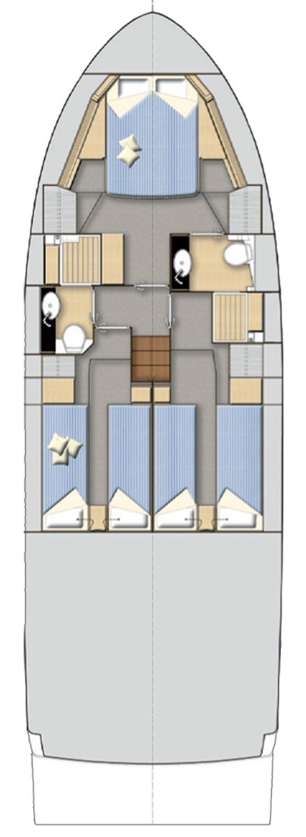 Bavaria Virtess 420 Coupe deckplan