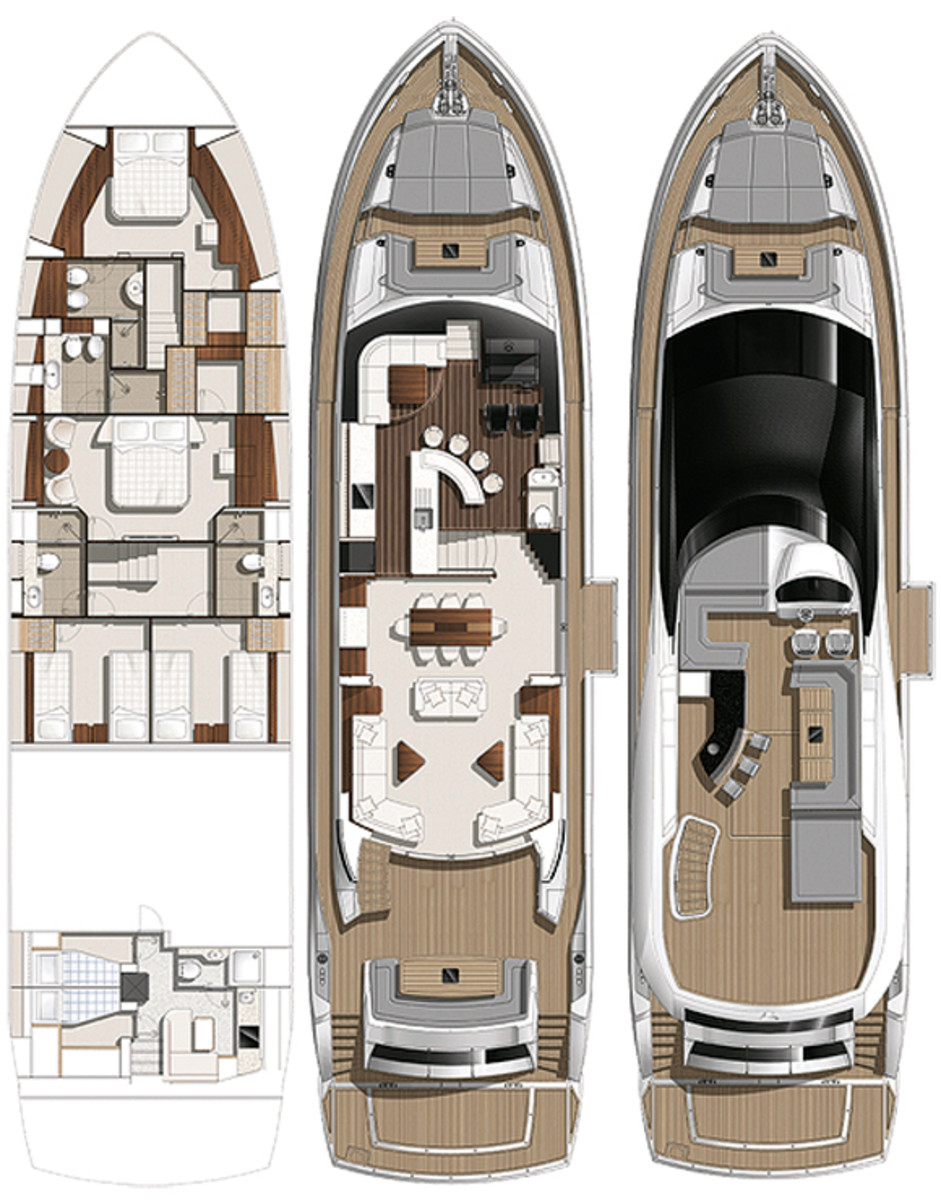 Sunseeker 86 Yacht deck plans