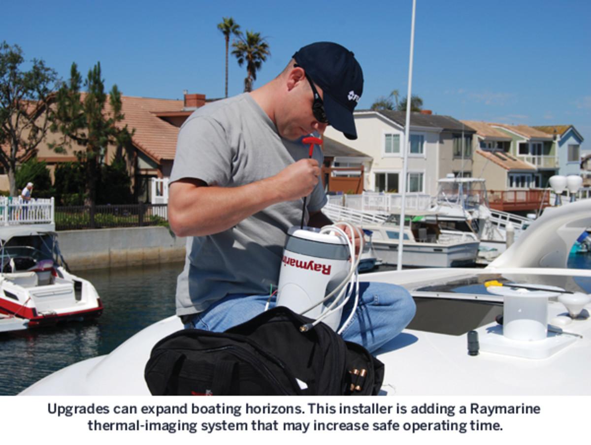 Boat electronics installer