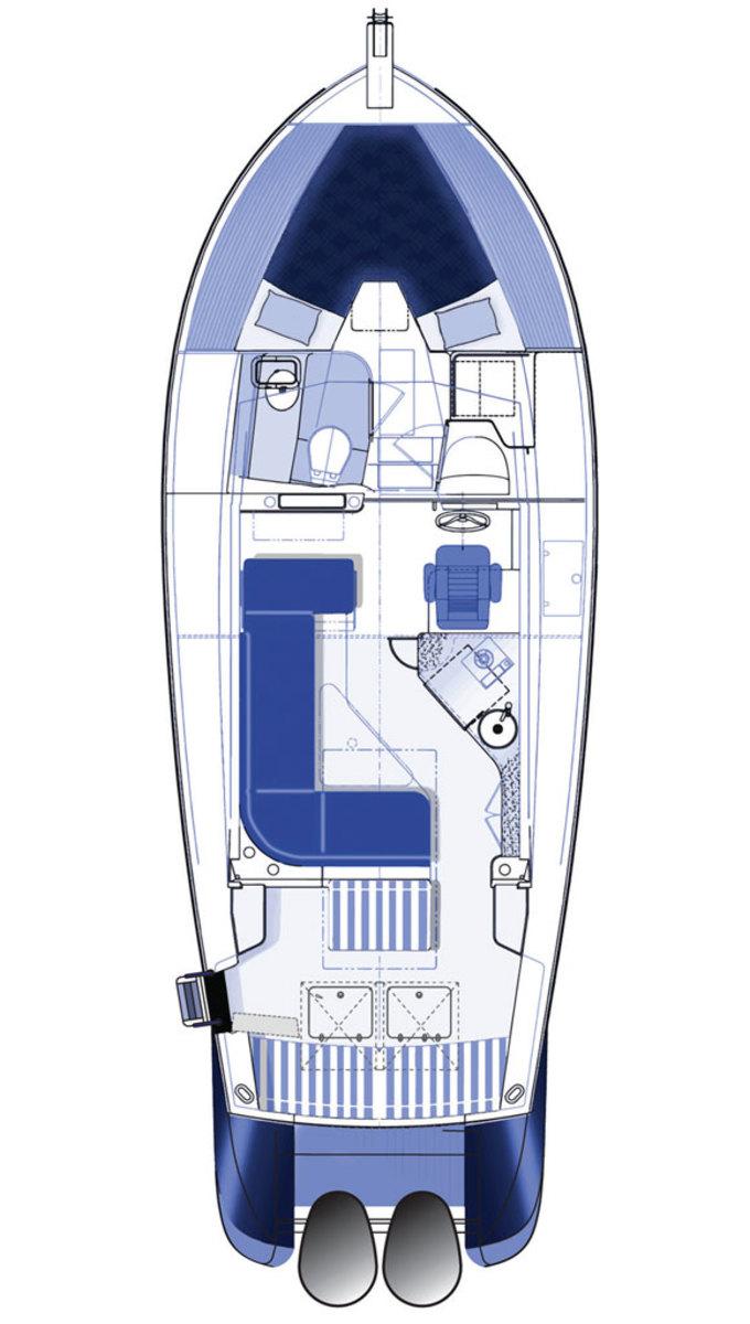 True North 34 deck plan