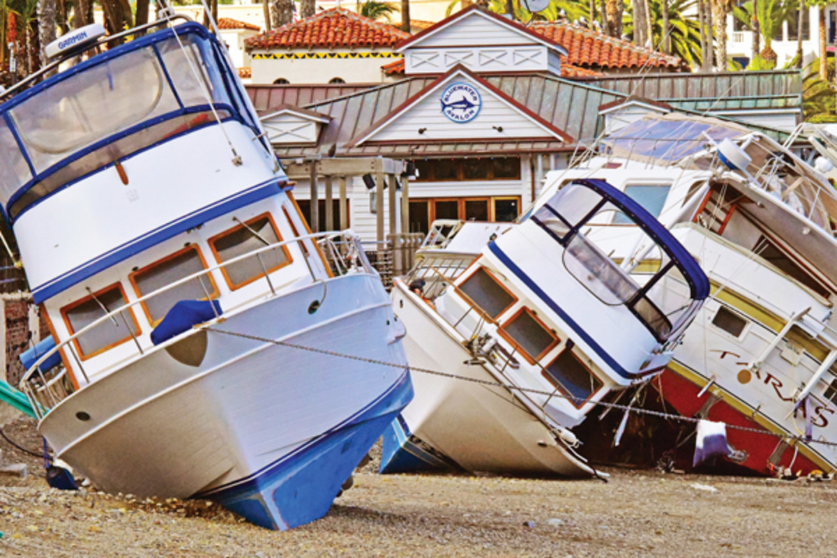 Beached trawlers