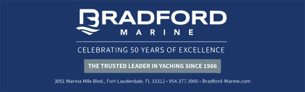 Bradford Marine logo and address