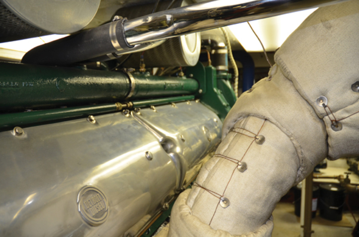 The Simple Truth About Marine Engine Maintenance Power Motoryacht Aircraft Fuel Filters Note Dual Air On Island Rangers Detroit Diesel At Top Of Photo This Owner Also Went To Great Lengths Keep His Spotless